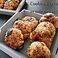 Cookies a la coppa et tomates séchées