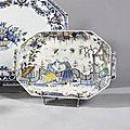 Rouen. bannette à deux anses. 18ème siècle.