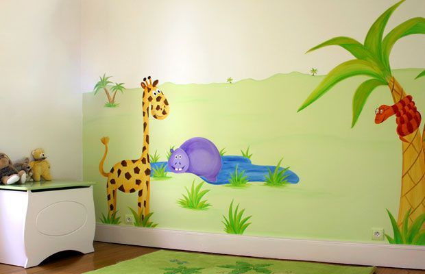 La d co dans la chambre de b b article 2 decor 39 in id es conseils - Decoratie murale chambre bebe ...