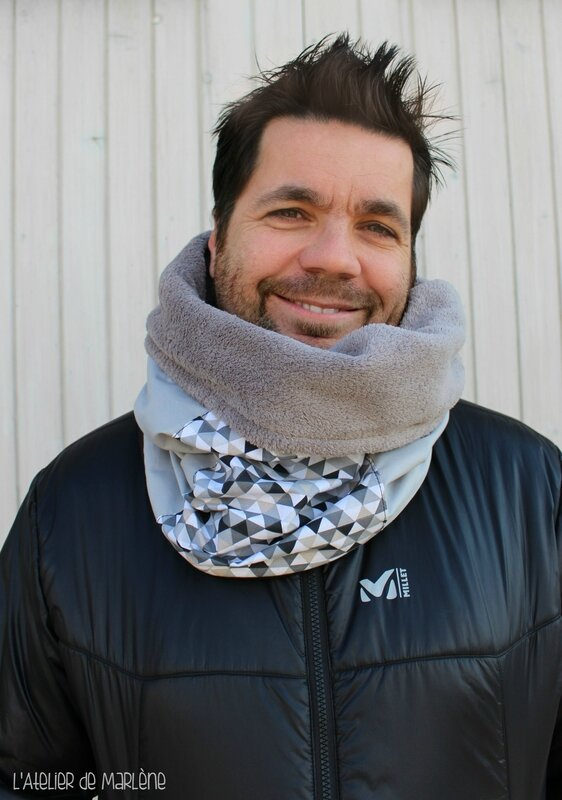 Snood homme gris