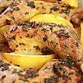 - cuisses de poulet au citron et à l'ail -