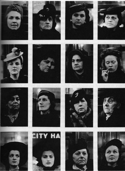 65. Walker EVANS, Many are called, Portraits pris dans le métro, seize femme, 1938-1941 (mise en page de 1959).