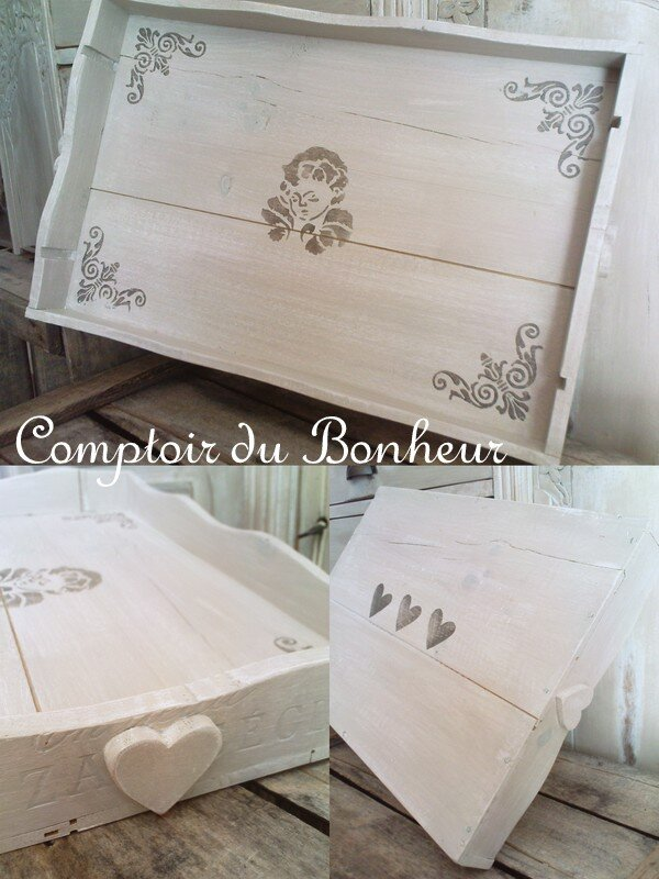 plateau personnalis comptoir du bonheur. Black Bedroom Furniture Sets. Home Design Ideas