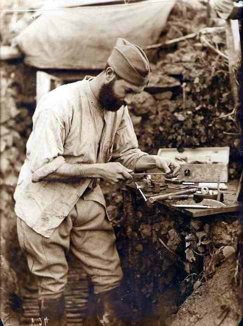 Fabrication de bagues Argonne 1915