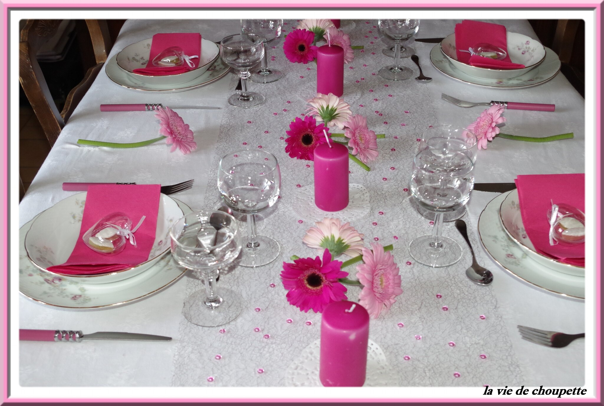 MA DECORATION DE TABLE FETE DES MERES 2015