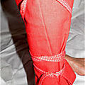 dati lbas lien entouré pantalon rouge t36
