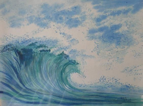 Vague - Aquarelle