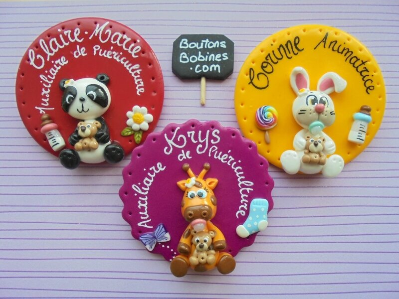 badges ronds animaux