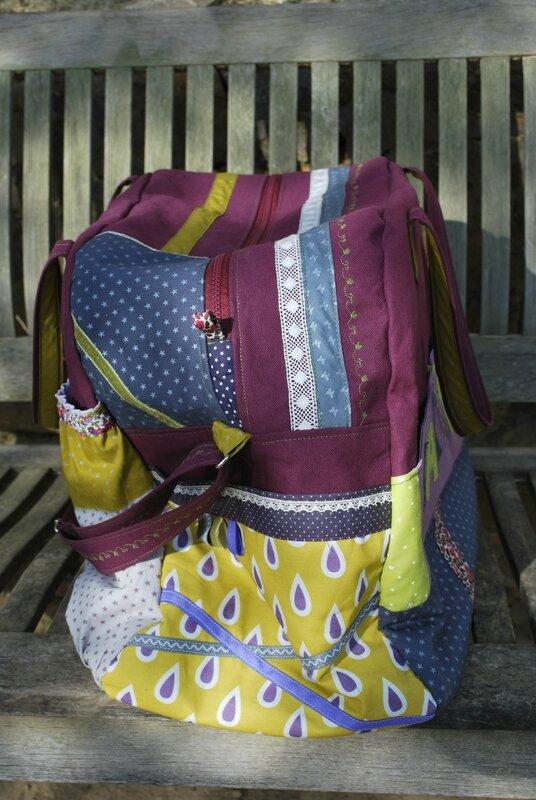 poupée tissu panda sac à langer 012