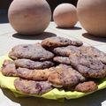 Cookies blancs aux cerises-framboises