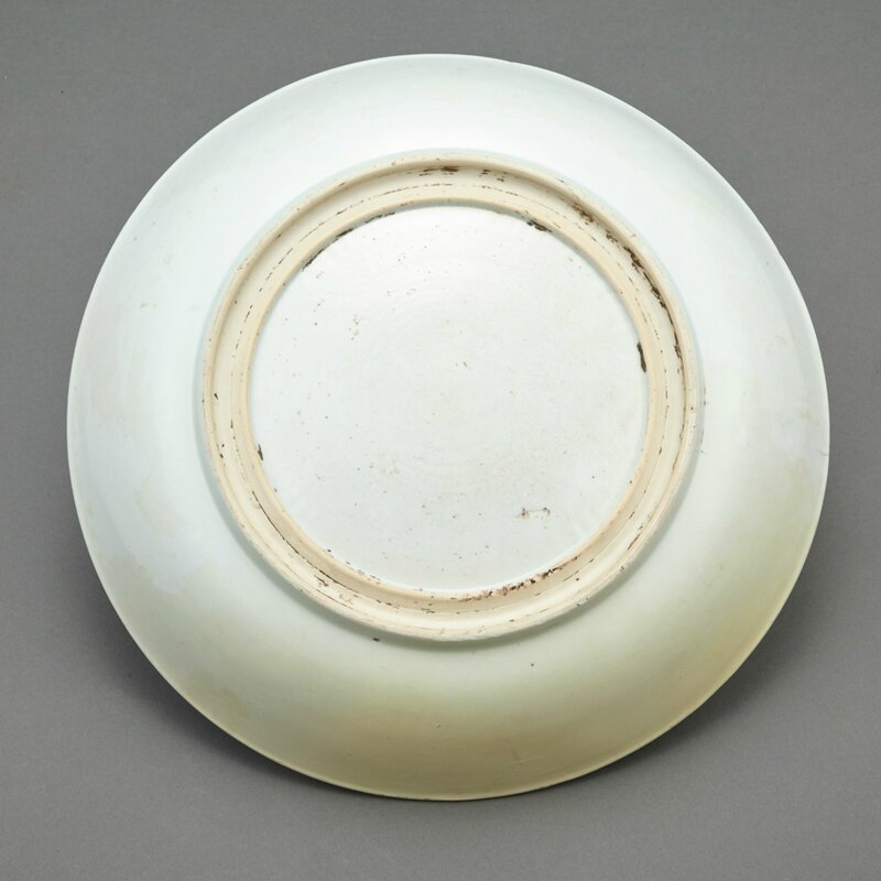 Chinese Famille Verte Glazed Porcelain Charger, Shunzhi-Kangxi Period2