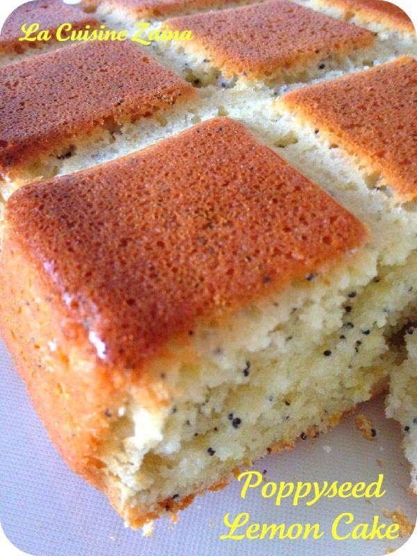 Poppyseed lemon cake