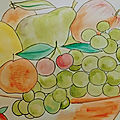 Aquarelle nature morte watercolour still life