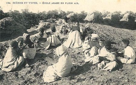 école arabe en plein air