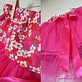Jupe tulle rose fushia details