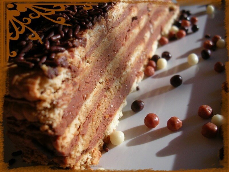 Gateau the brun mascarpone chocolat
