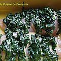 Filet de poulet farcis aux épinards et fromage