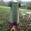 2012 adulte MARINETE B, robe verte & rose