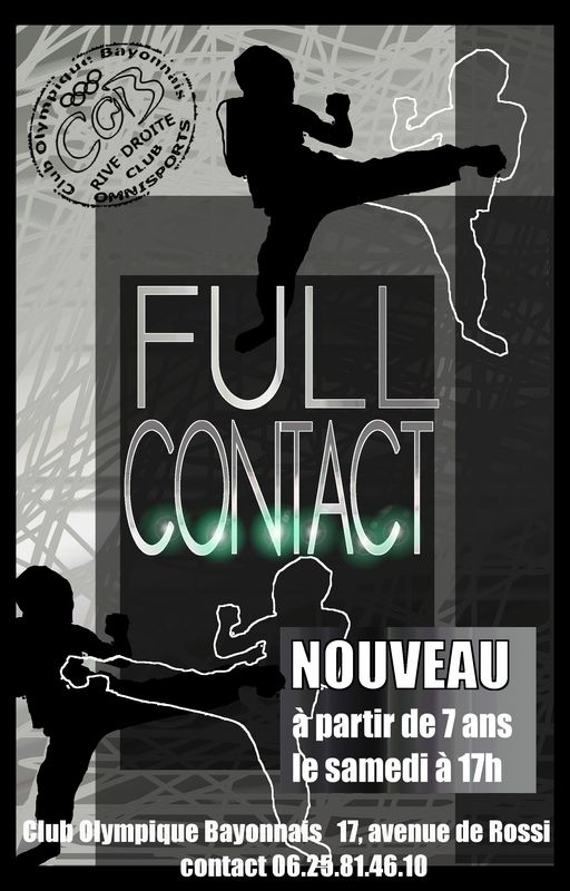 full contact à partir de 7 ans au COB
