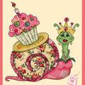 Carte anniversaire escargot