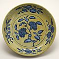 Dish with flowering pomegranate, Ming dynasty, Zhengde mark and period, AD 1506–1521