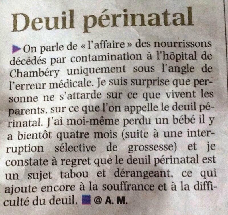 Deuil périnatal - La Voix du Nord