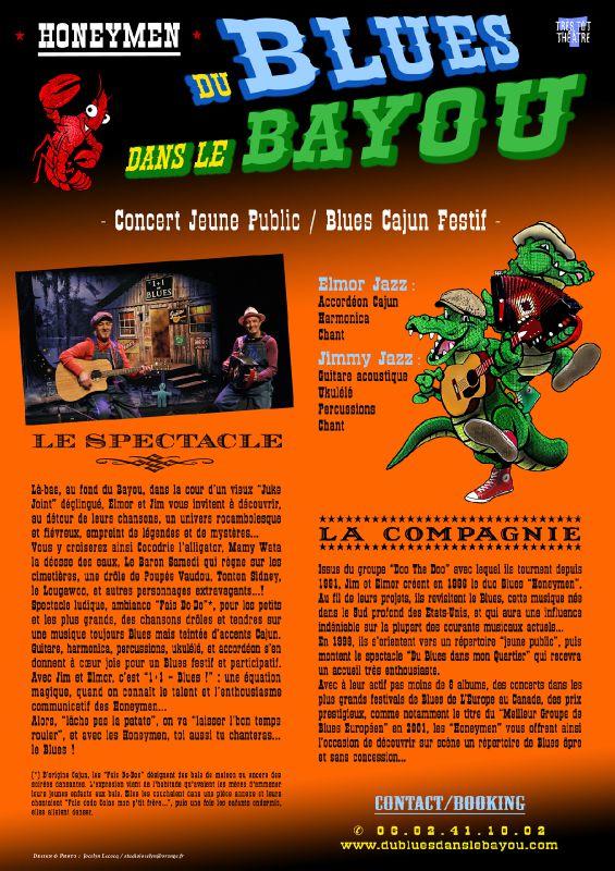 Plaquette promo : Honeymen / Du Blues Dans Le Bayou