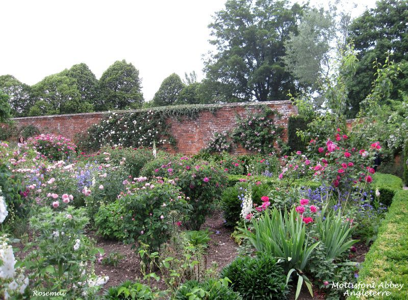 Promenade dans les jardins de mottisfont abbey en for Jardin anglais en angleterre