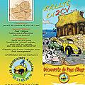 Brochure Balades à Eugène 2cv Pont l'évêque Pays d'Auge