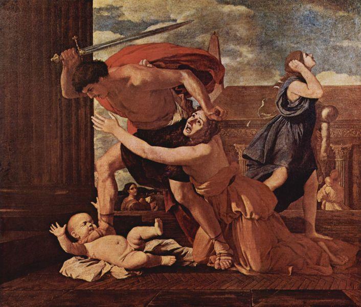 19. Nicolas POUSSIN, Le Massacre des innocents, vers 1625.