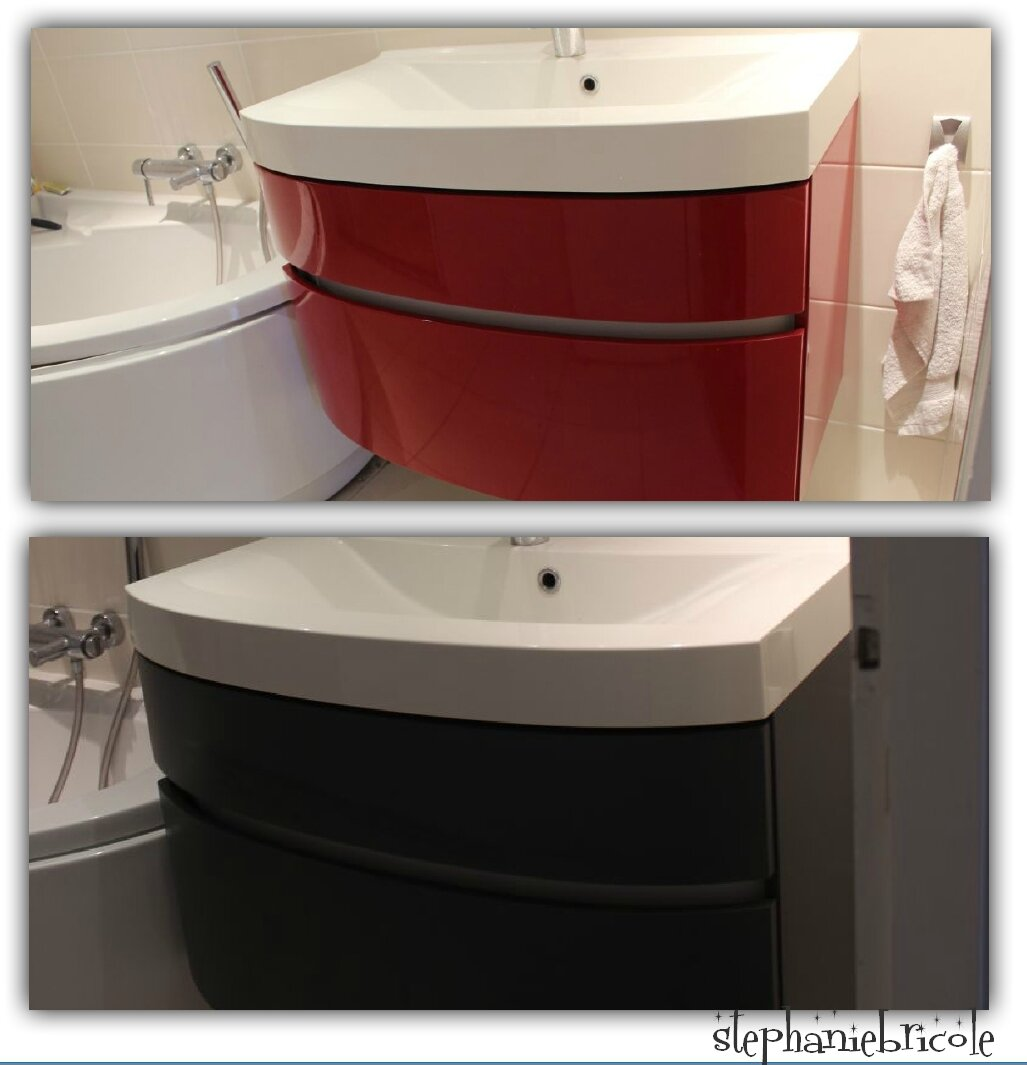 St phanie bricole for Customiser un meuble de salle de bain