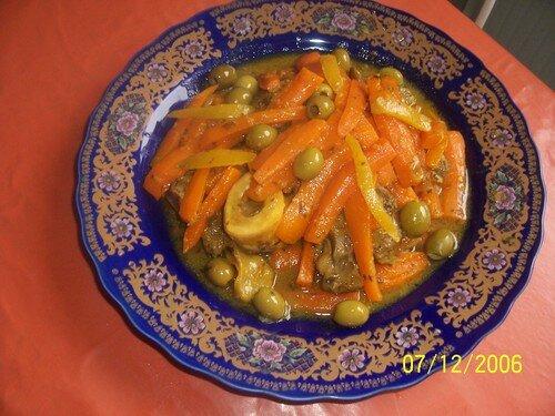 Tagine de veau aux carottes