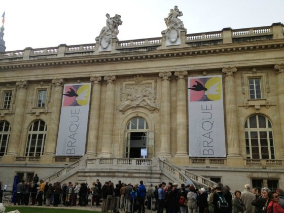 grand Palais cour expo Braque