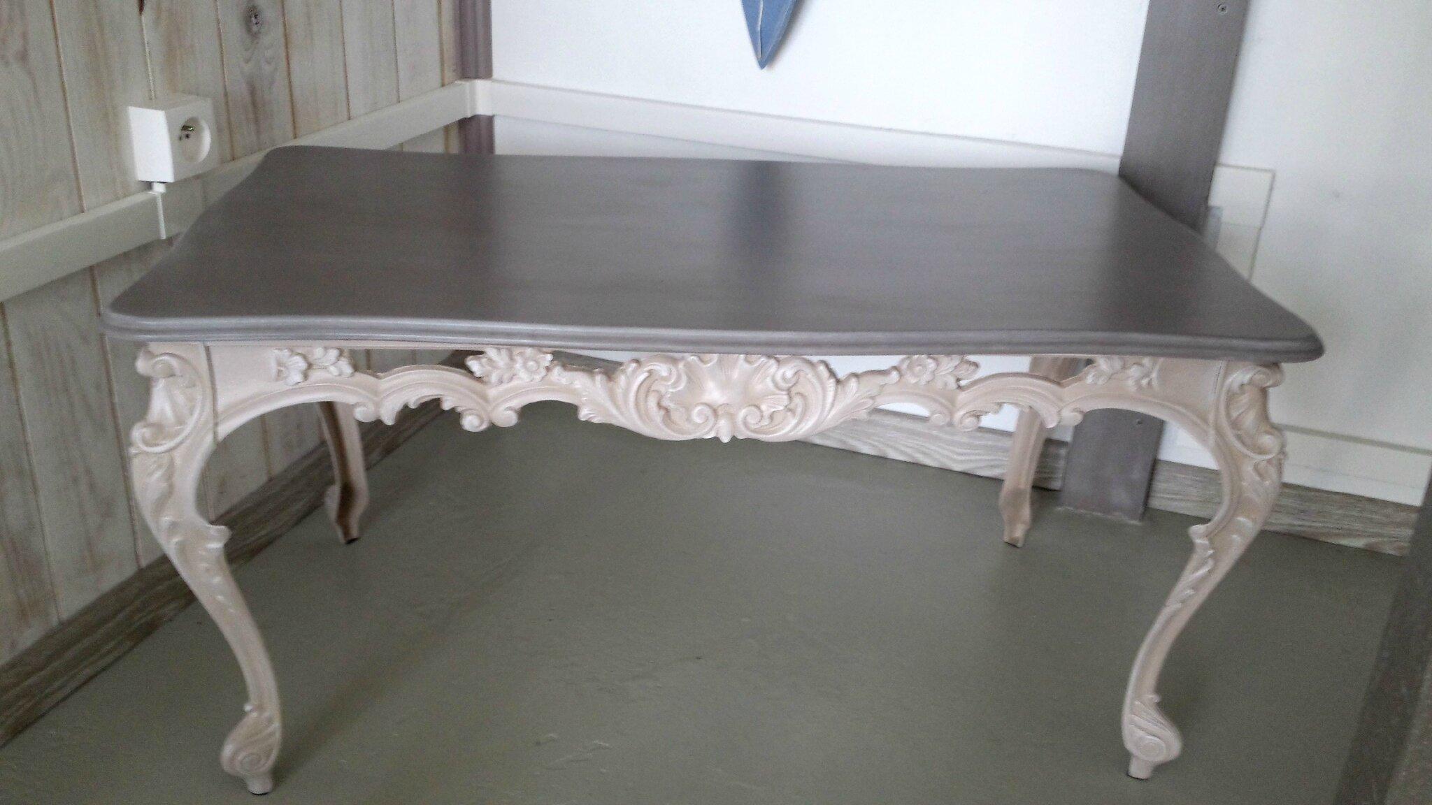 Table de basse ancienne r f dmc153 la boutique de - Table basse repeinte ...
