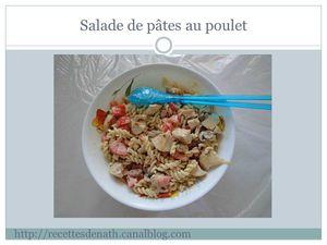 salade pates poulet