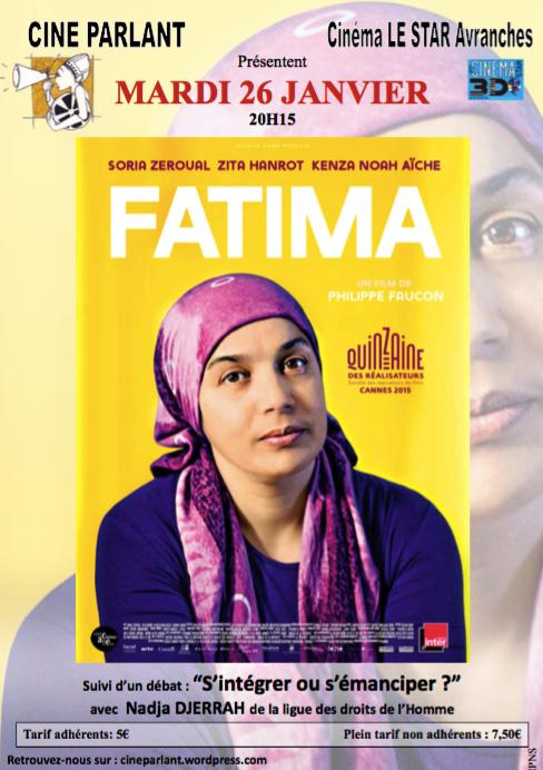 Fatima Avranches Ciné Parlant Ligue des Droits de l'Homme janvier 2016 affiche