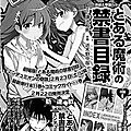 [manga news] fin du shoujo tonari no kaibutsu-kun ; adaptation en manga de to aru majutsu no index - endymion no kiseki