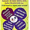 Concert du samedi 16 mai 2015