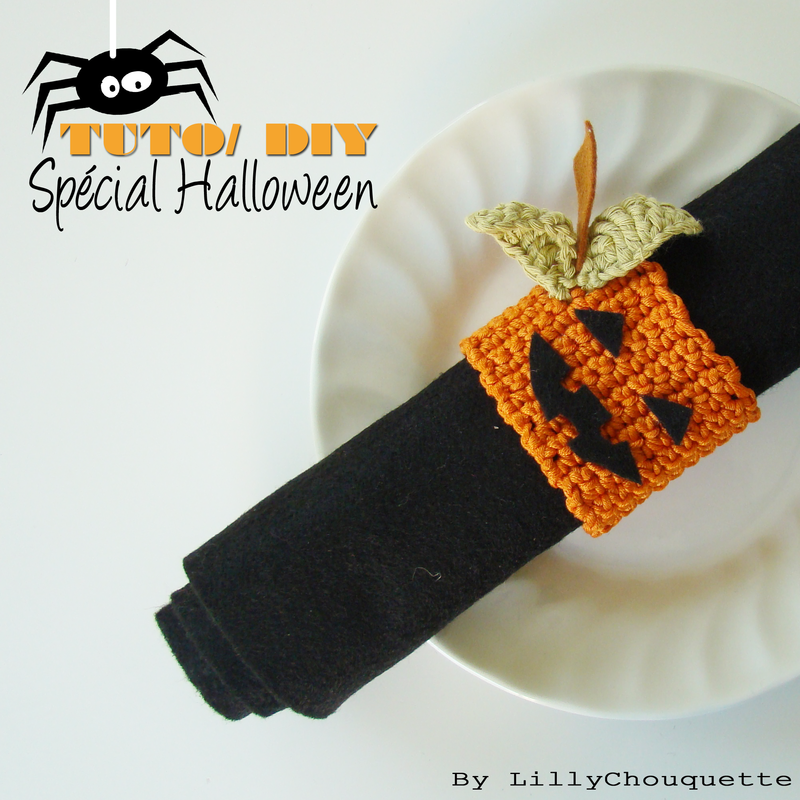 tuto diy id e d co halloween au crochet lilly chouquette bloggueuse cr ative. Black Bedroom Furniture Sets. Home Design Ideas