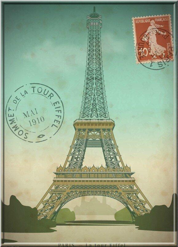 sommet de la tour eiffel 1910