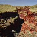 Karijini NP, vue d'en haut des gorges