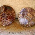 Bagues Horu chocolat et brun irisé