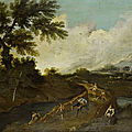 Three landscapes of bartolomeo pedon (venice 1665-1732)