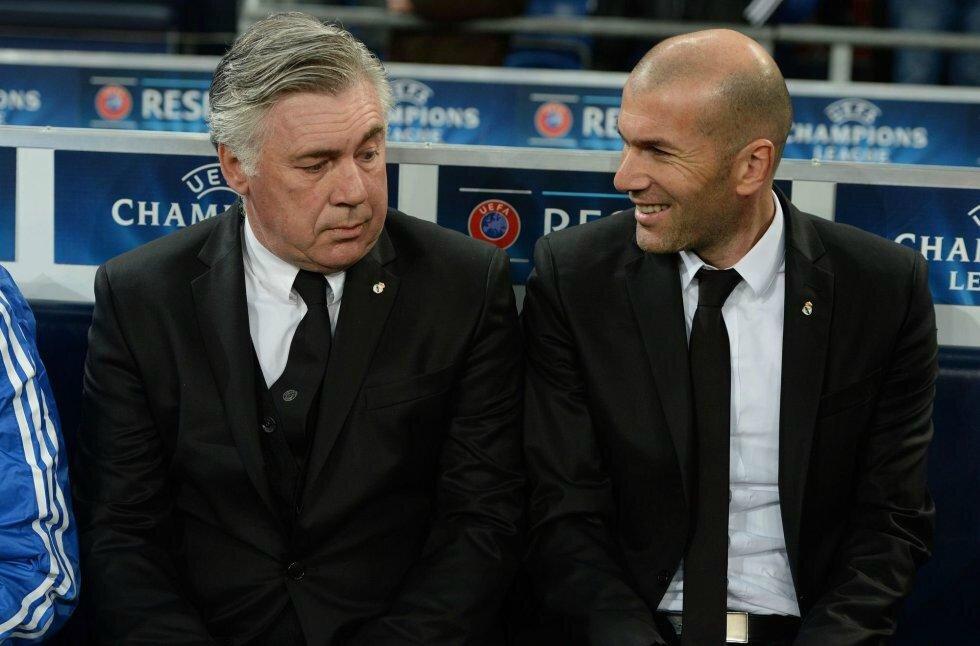 Zidane Ancelotti Schalke 04 Real Madrid 1 - 6 (1)
