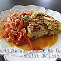 Tortilla aux pommes de terre confit de poivrons