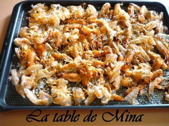 sel pimenté aux carapaces de crevettes