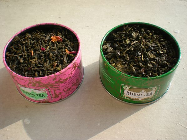 Kusmi Tea - Rose Green Tea &amp; Spearmint Green Tea