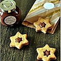☆ calendrier de l'avent : 1 cadeau gourmand par jour ☆ jour 22 : linzers à la pâte à tartiner choco-praliné maison