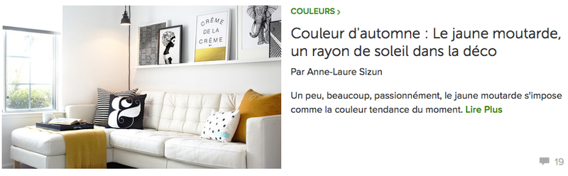 article AL Sizun pour Houzz: jaune moutarde