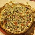 Tarte sale aux champignons jambon de bayonne et tomate avec mascarpone